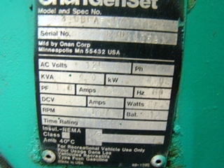 ONAN 4.0 RV GENSET GENERATOR FOR SALE CALL 606-843-9889