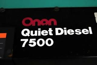 ONAN CUMMINS DIESEL GENERATOR FOR SALE 7500 QUIET