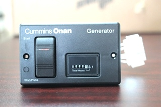 NEW CUMMINS ONAN REMOTE START CONTROL PANEL & HOUR METER WITH 30 FT. WIRING HARNESS