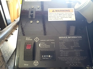 CUMMINS ONAN RV QD 10000 USED MOTORHOME 10HDKCA-11608G GENERATOR FOR SALE