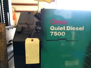 USED RV ONAN QUIET DIESEL 7500 GENERATOR MOTORHOME PARTS FOR SALE