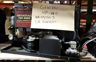 GENERAC NP-66G USED GENERATOR MODEL: 09734-3 RV/MOTORHOME PARTS FOR SALE